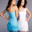 strapless handmade beaded flowers sexy Cocktail Dresses For Weddings