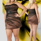 Strapless Two Toned Mini Beaded Sexy Brown  Plus Size Cocktail Dresses