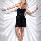 Chiffon Strapless Neckline Short Sexy Cocktail Dresses