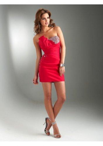 Satin Strapless Sweetheart Neckline 2012 Short Cocktail Dresses