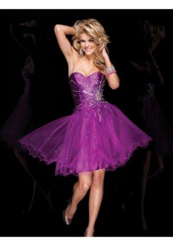 Sweetheart Neckline Bodice A-Line 2012 Short Cocktail Dresses