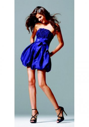Strapless Neckline A-Line Skirt 2011 Hot Sell Short Cocktail Dresses