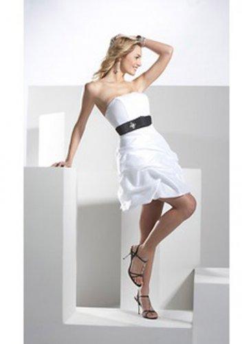 A-Line Strapless Short/Mini Satin Short Cocktail Dresses