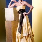 A-line Strapless with Sash at Waist Taffeta Cheap Party Dresses