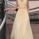 V-Neck Design Silk Chiffon Party Dresses For Women