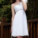 White shoulder bridesmaid dresses Short Party Dresses mini dresses