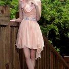Pale pink evening dresses Short Party Dresses bridesmaid dresses