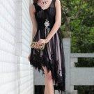 Black V-neck evening dresses Short Party Dresses