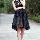 Black shoulder bridesmaid dresses Short Party Dresses mini dresses