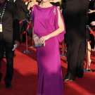 Bateau Column/Sheath Backless Celebrity Dresses