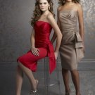 Red short bridesmaid dress