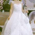Satin ball gown floor-length capped at flower girl dresses