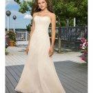 A-line Strapless Chiffon Beach Wedding Dresses