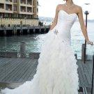 A-Line/Princess Sweetheart Chapel Train Taffeta Tulle Wedding Dresses
