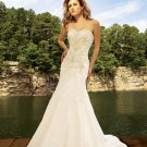 A-Line/Princess Sweetheart Chapel Train Taffeta Wedding Dresses