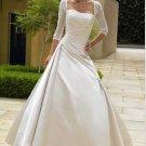 Charming A-Line Scoop Neck Chapel Bridal Dresses