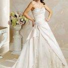 A-Lines Halter Chapel Train Satin Bridal Dresses