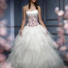 Strapless Lovely Embroider Sweetheart Puffed colored wedding dresses