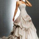 Ball Gowns Sweetheart Chapel Train Taffeta Lace colored wedding dresses