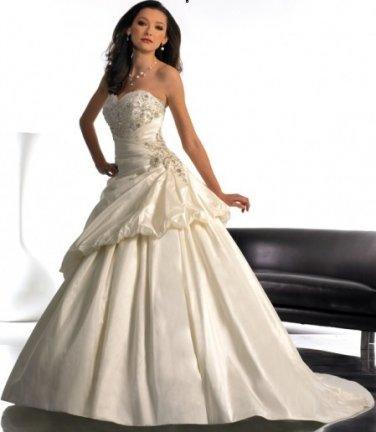 Sweetheart Neckline Waistline and A-line Pleated princess princess wedding dresses