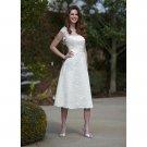 lace strapless 2012 new arrival tea length a-line short wedding dresses