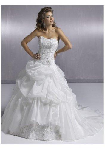 flowery strapless wedding dresses