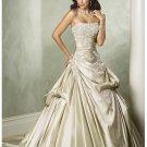 Cheap custom made beautiful strapless wedding dresses