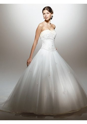 Fashionable casual bright strapless wedding dresses