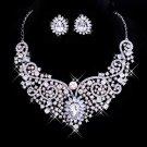 Silver necklace white diamond marriage
