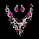 A luxurious silver white diamond sets chain