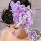 New accessories bridal hair purple