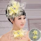 The bride yellow flower head
