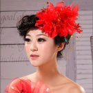 Wedding flowers wedding dress red head