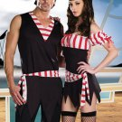 Red White Sexy Adult Pirate Costumes For Men