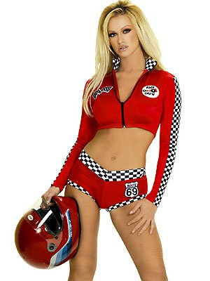 Red sexy racing romper