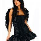 Adult Sexy Black Angel Dress Costume