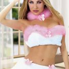 Sexy White And Pink Bunny Costume
