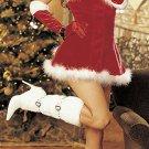 Ladies Velvet Christmas Holiday Costume