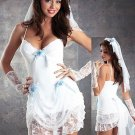 Sexy Adult Bridal  Lingerie Costume Fancy Dress