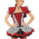 Sexy Red And Black Velvet Faux Princess Costumes