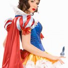 Acrylic Satin Sexy Snow White Princess Costume
