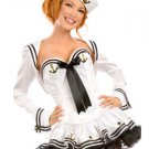 Elastic Cotton Womens Sexy Sailor Costume