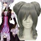 35cm Vocaloid Anime Silver Fibre Cosplay Wig