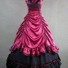 Aristocrat Lolita Red Victorian Renaissance Satin Long Dress