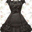 60 Cotton 40 Terylene Black Bow Classic Lolita Dress
