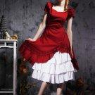 Classic Fuchsia Short Sleeves Short Sleeves Cotton Lolita Dress