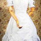 Cotton White Ruffles Short Sleeves Gothic Lolita Dress
