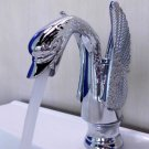 EMS(DHL) Free shipping bathroom basin sink single hole swan faucet