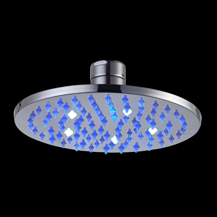 Free shipping brass round  led shower head 20x20cm