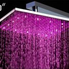 Free shipping brass Square  led shower head 25cmx25cm